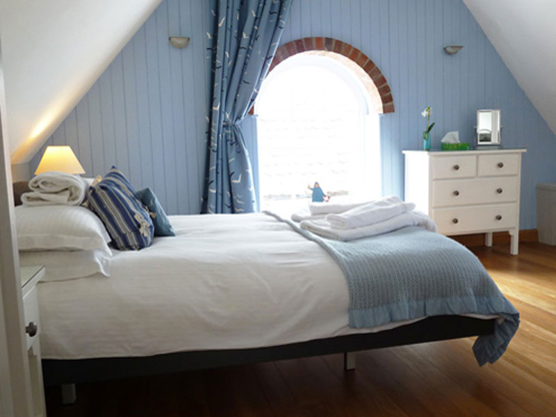 Anchor Bottle's romantic attic bedroom